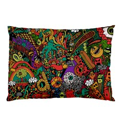 Monsters Colorful Doodle Pillow Case (two Sides)