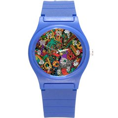 Monsters Colorful Doodle Round Plastic Sport Watch (s)