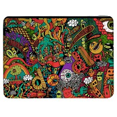 Monsters Colorful Doodle Samsung Galaxy Tab 7  P1000 Flip Case