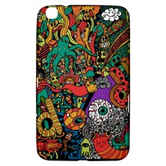 Monsters Colorful Doodle Samsung Galaxy Tab 3 (8 ) T3100 Hardshell Case