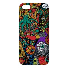Monsters Colorful Doodle Iphone 5s/ Se Premium Hardshell Case