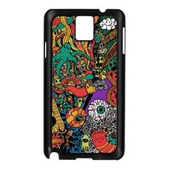 Monsters Colorful Doodle Samsung Galaxy Note 3 N9005 Case (black)