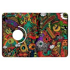 Monsters Colorful Doodle Kindle Fire Hdx Flip 360 Case
