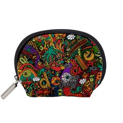 Monsters Colorful Doodle Accessory Pouches (Small)