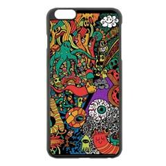 Monsters Colorful Doodle Apple Iphone 6 Plus/6s Plus Black Enamel Case
