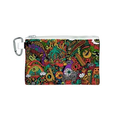 Monsters Colorful Doodle Canvas Cosmetic Bag (s)