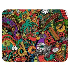 Monsters Colorful Doodle Double Sided Flano Blanket (medium)