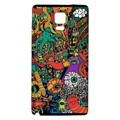 Monsters Colorful Doodle Galaxy Note 4 Back Case