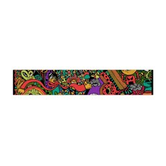 Monsters Colorful Doodle Flano Scarf (mini)