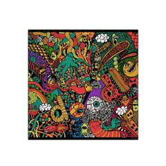 Monsters Colorful Doodle Satin Bandana Scarf