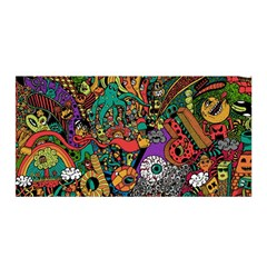 Monsters Colorful Doodle Satin Wrap