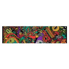 Monsters Colorful Doodle Satin Scarf (oblong)