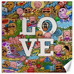 Doodle Art Love Doodles Canvas 16  x 16