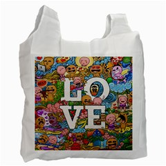 Doodle Art Love Doodles Recycle Bag (Two Side)