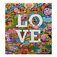 Doodle Art Love Doodles Shower Curtain 66  x 72  (Large)