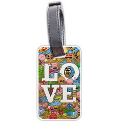 Doodle Art Love Doodles Luggage Tags (two Sides)