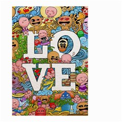 Doodle Art Love Doodles Small Garden Flag (two Sides)