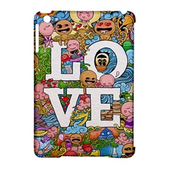Doodle Art Love Doodles Apple Ipad Mini Hardshell Case (compatible With Smart Cover)