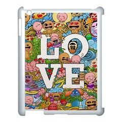 Doodle Art Love Doodles Apple Ipad 3/4 Case (white)