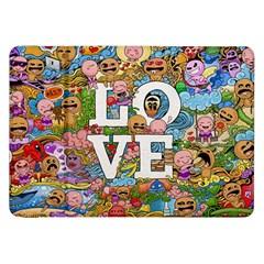 Doodle Art Love Doodles Samsung Galaxy Tab 8 9  P7300 Flip Case