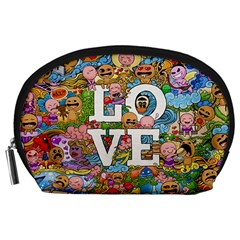 Doodle Art Love Doodles Accessory Pouches (large)