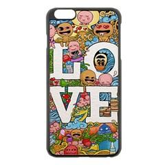 Doodle Art Love Doodles Apple Iphone 6 Plus/6s Plus Black Enamel Case