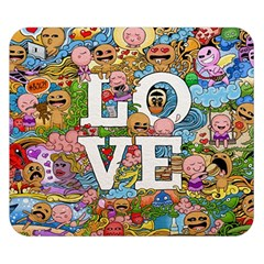 Doodle Art Love Doodles Double Sided Flano Blanket (Small)