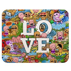 Doodle Art Love Doodles Double Sided Flano Blanket (Medium)