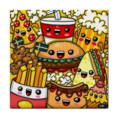 Cute Food Wallpaper Picture Tile Coasters