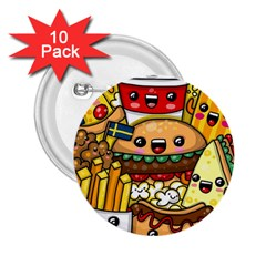 Cute Food Wallpaper Picture 2.25  Buttons (10 pack)