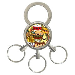 Cute Food Wallpaper Picture 3 Ring Key Chains