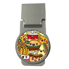 Cute Food Wallpaper Picture Money Clips (round)