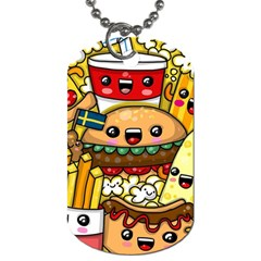 Cute Food Wallpaper Picture Dog Tag (One Side)