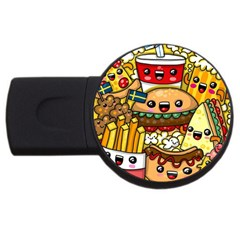 Cute Food Wallpaper Picture USB Flash Drive Round (1 GB)