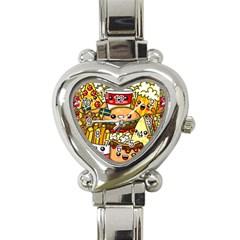 Cute Food Wallpaper Picture Heart Italian Charm Watch