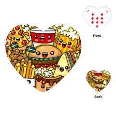 Cute Food Wallpaper Picture Playing Cards (heart)