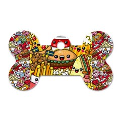 Cute Food Wallpaper Picture Dog Tag Bone (two Sides)