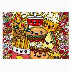 Cute Food Wallpaper Picture Large Glasses Cloth (2-Side)