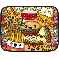 Cute Food Wallpaper Picture Double Sided Fleece Blanket (mini)