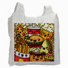 Cute Food Wallpaper Picture Recycle Bag (one Side)