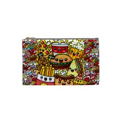 Cute Food Wallpaper Picture Cosmetic Bag (Small)