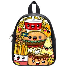 Cute Food Wallpaper Picture School Bags (Small)