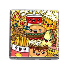 Cute Food Wallpaper Picture Memory Card Reader (Square)