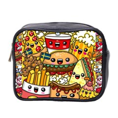 Cute Food Wallpaper Picture Mini Toiletries Bag 2-Side