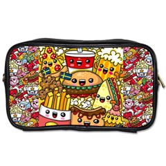 Cute Food Wallpaper Picture Toiletries Bags 2 Side