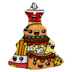 Cute Food Wallpaper Picture Christmas Tree Ornament (two Sides)
