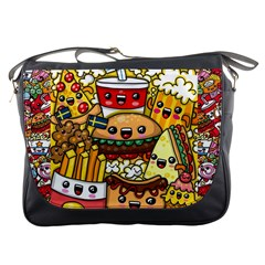 Cute Food Wallpaper Picture Messenger Bags