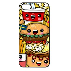 Cute Food Wallpaper Picture Apple Iphone 5 Seamless Case (black)
