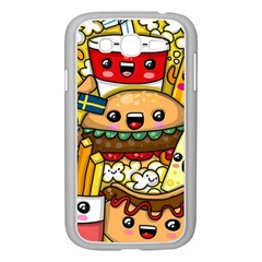 Cute Food Wallpaper Picture Samsung Galaxy Grand Duos I9082 Case (white)