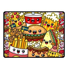Cute Food Wallpaper Picture Double Sided Fleece Blanket (small)